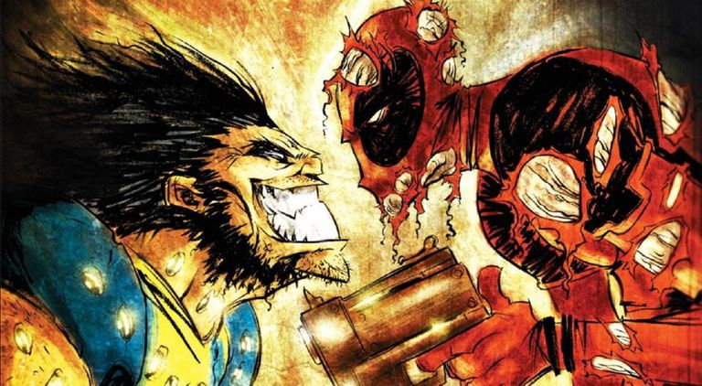 Wolverine vs. Deadpool by Skottie Young