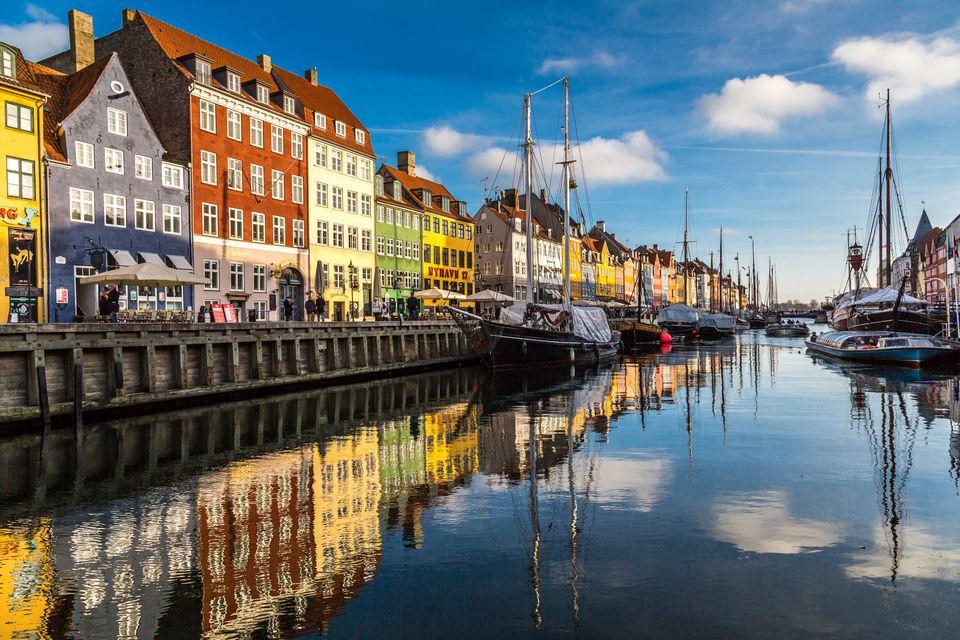 Nyhavn neighborhood in Copenhagen Denmark