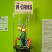 A strange creature greets you at the entrance to The Works, a technology museum in Bloomington.