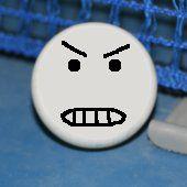 Photo of angry table tennis ball