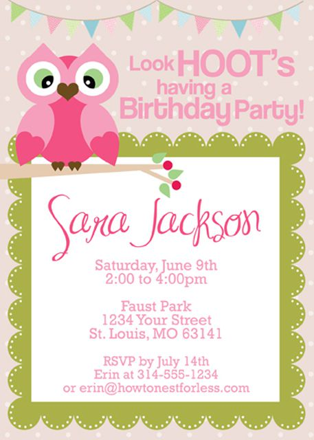 17 free printable birthday invitation templates owl themed birthday party invitations by how to nest for less stopboris Images