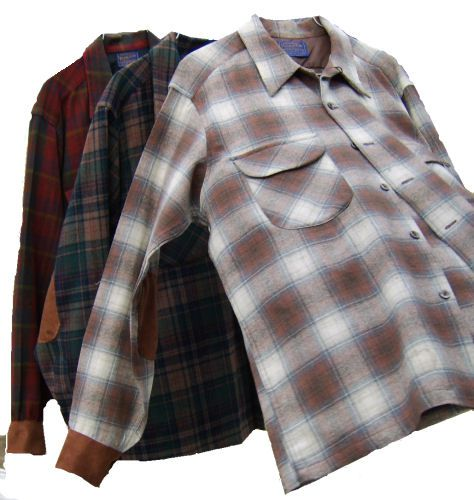 Wool Shirts with Replaced Cuffs and Patched Elbows