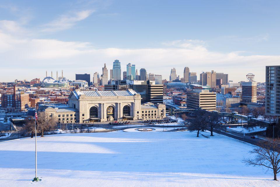 Kansas City panorama with Union Station