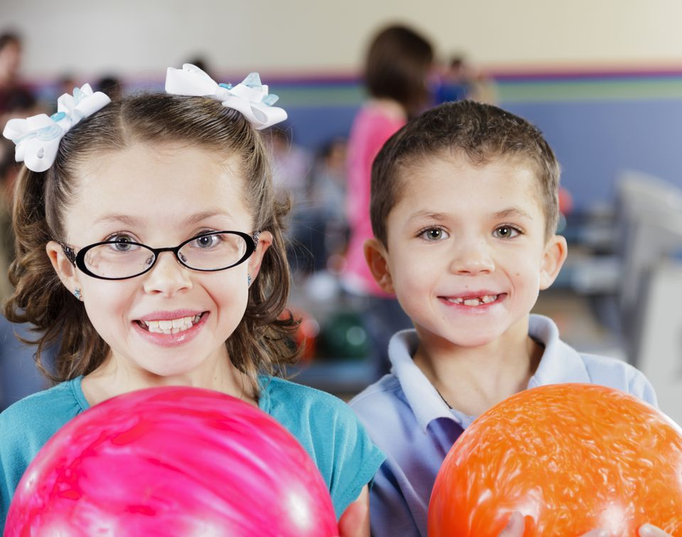 Children at Bowling Alley