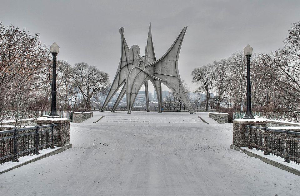 Calder sculpture, as seen in Montreal's Parc Jean-Drapeau.