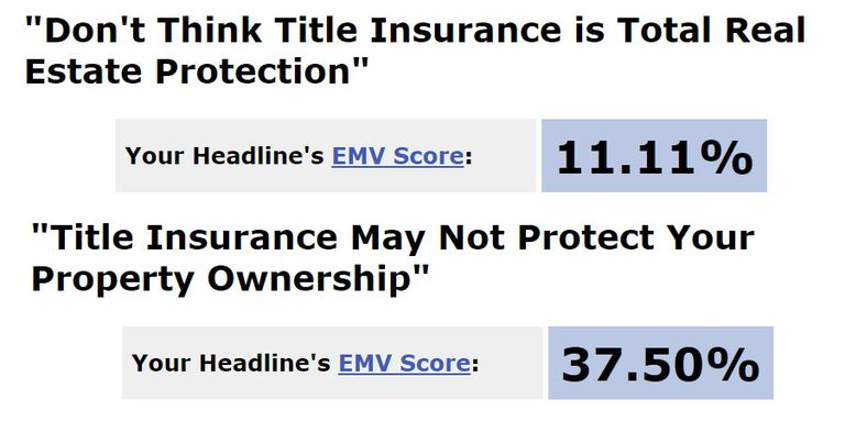 Title Scores for Headline Analyzer