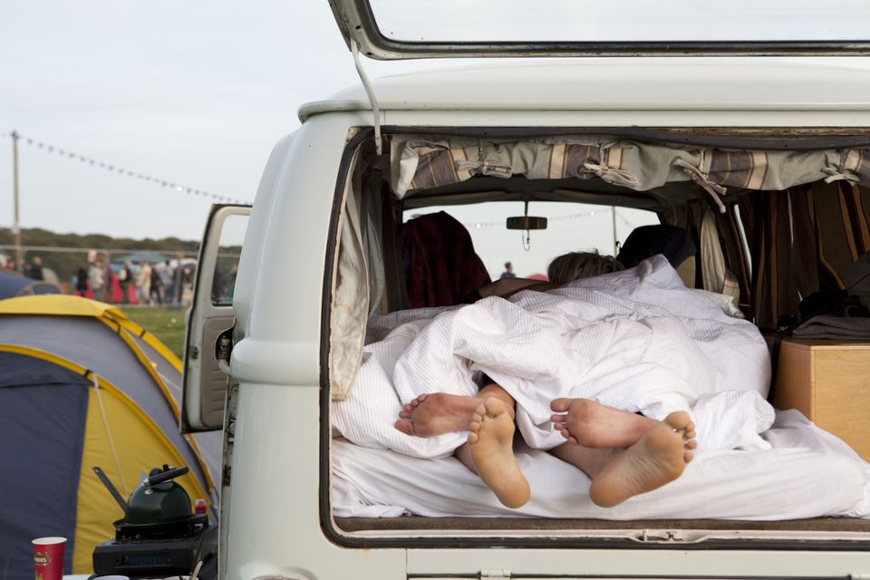Sleeping in a camper van