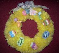 Plastic Bag Easter Wreath