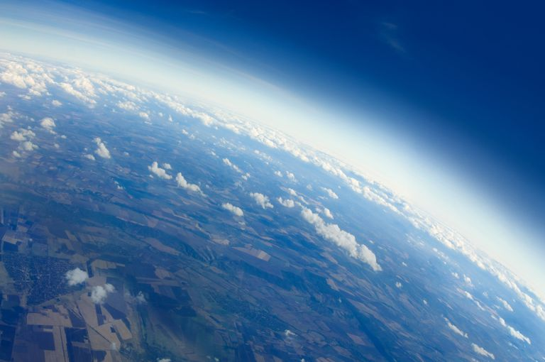 Earth's blue atmosphere