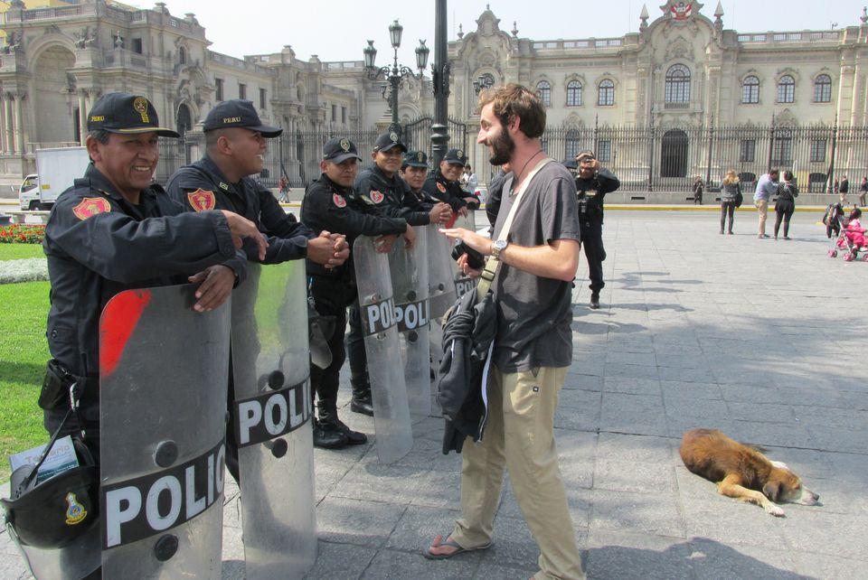 Police in Lima, Peru.