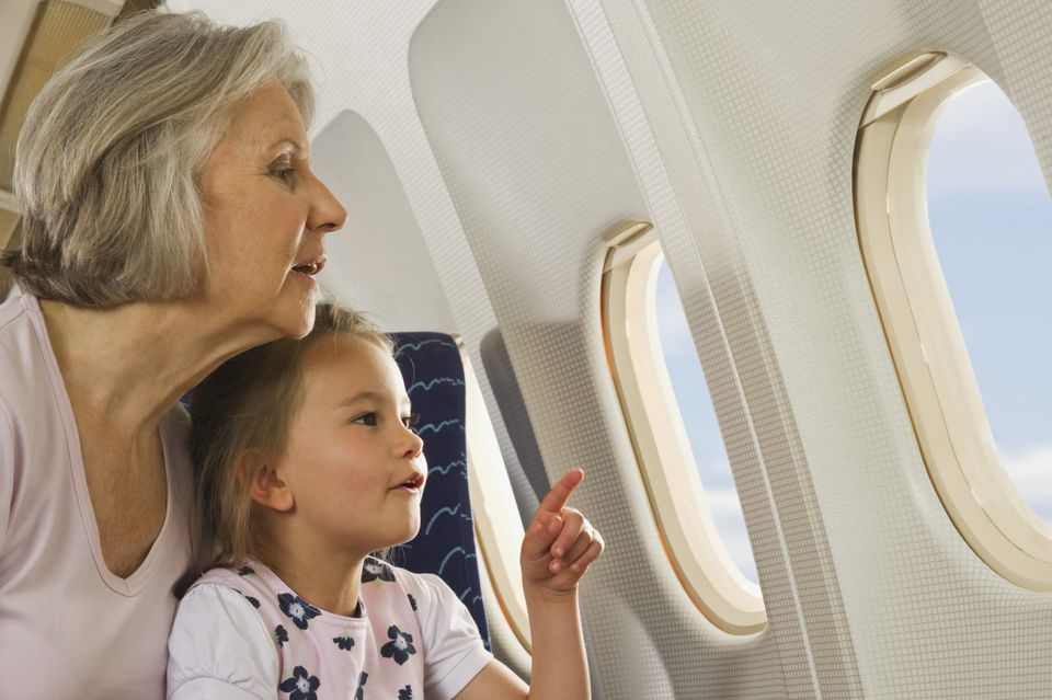 grandparent and grandchild air travel