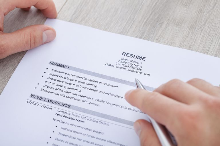 drafting a resumes