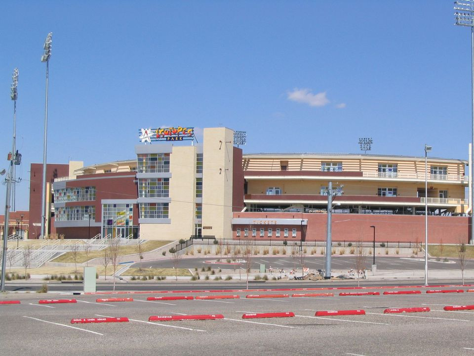 The Albuquerque Isotopes baseball stadium