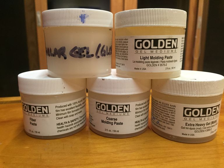 A variety of gel mediums