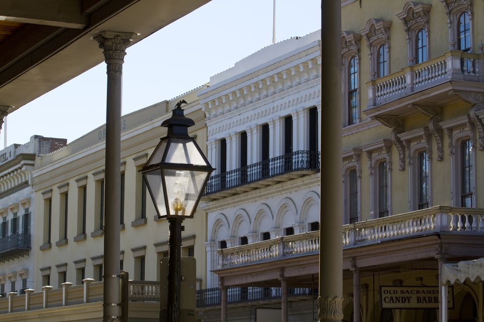Lantern in Old Town Sacramento Historic District