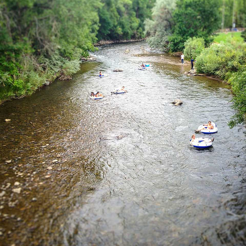 Tubing in Golden's Clear Creek