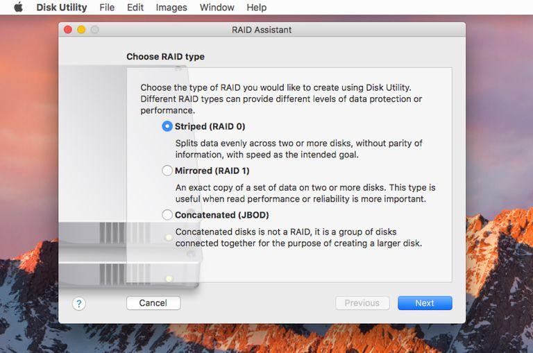 Mac OS RAID Assistant