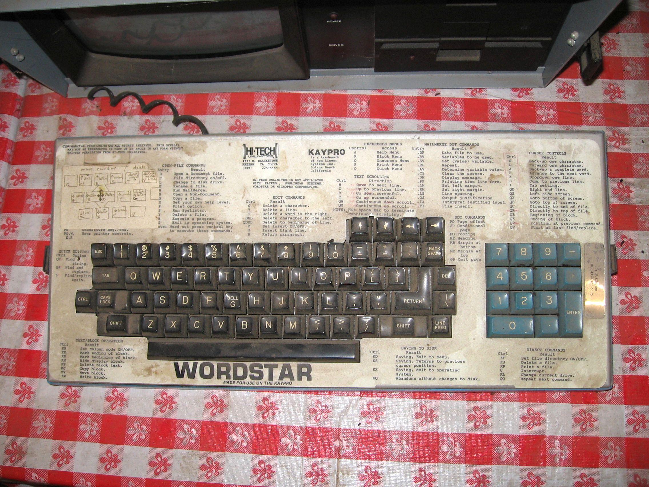 wordstar u2014the first word processor