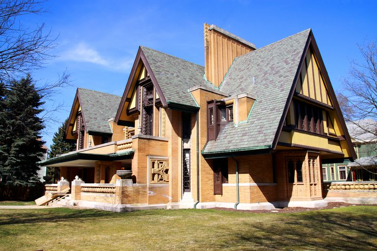 Nathan G. Moore House, built in 1895, designed and remodeled by Frank Lloyd Wright, Oak Park