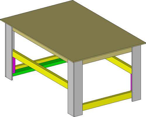 Portable Wood Shop Table