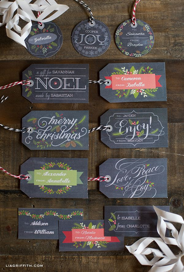 41 sets of free printable christmas gift tags free printable christmas gift tags from lia griffith for world label negle Images