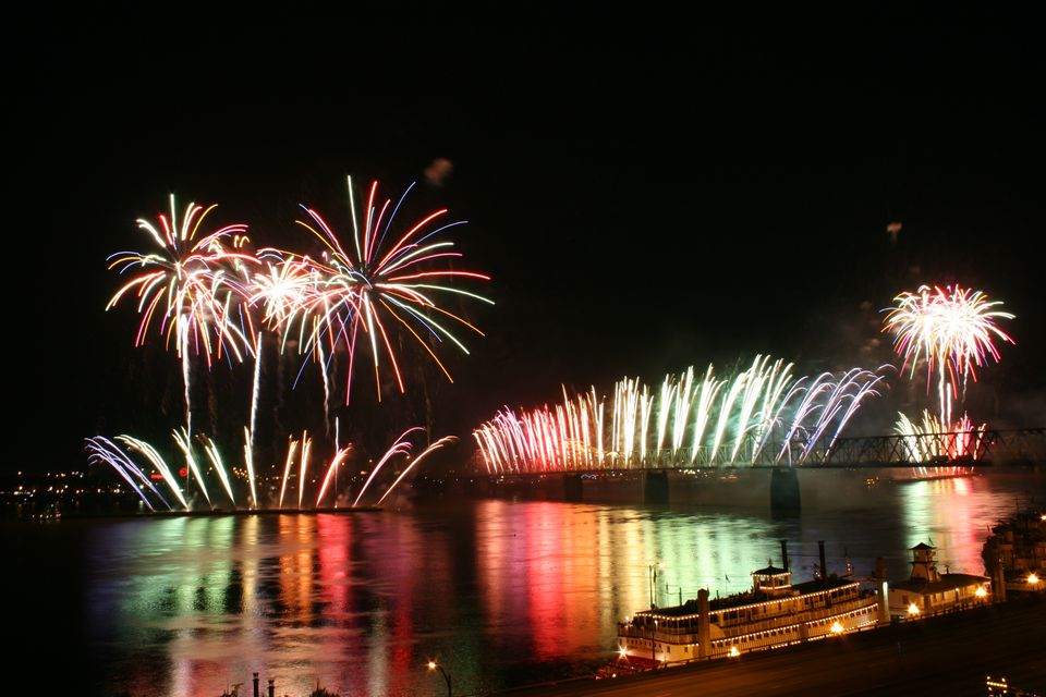 Thunder Over Louisville fireworks at Waterfront Park