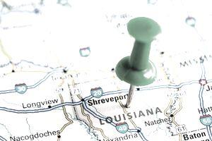 USA states on map: Louisiana