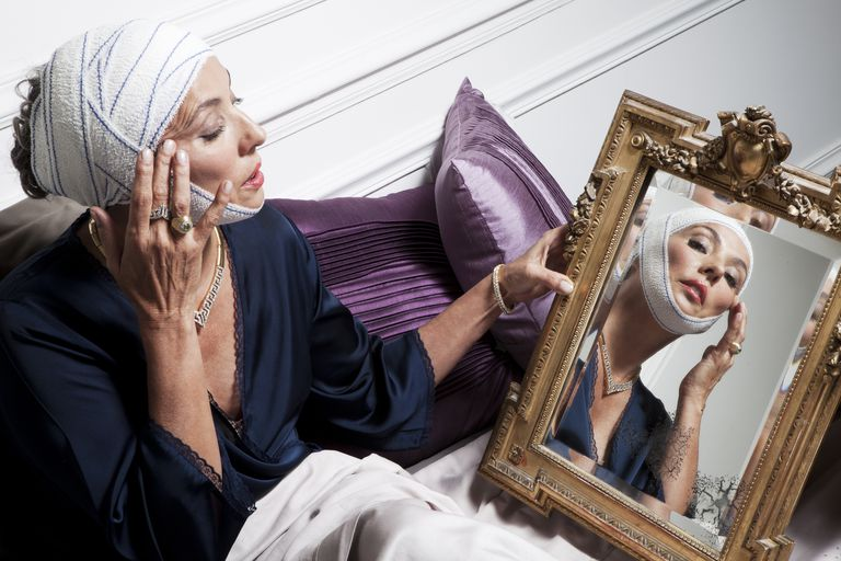 Senior woman after beauty operation