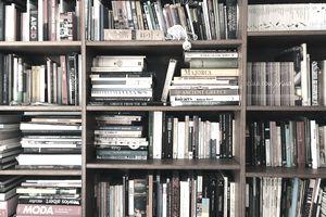 Full Frame Shot Of Books In Shelves