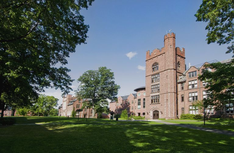 A campus building at Mount Holyoke College, Massachusetts