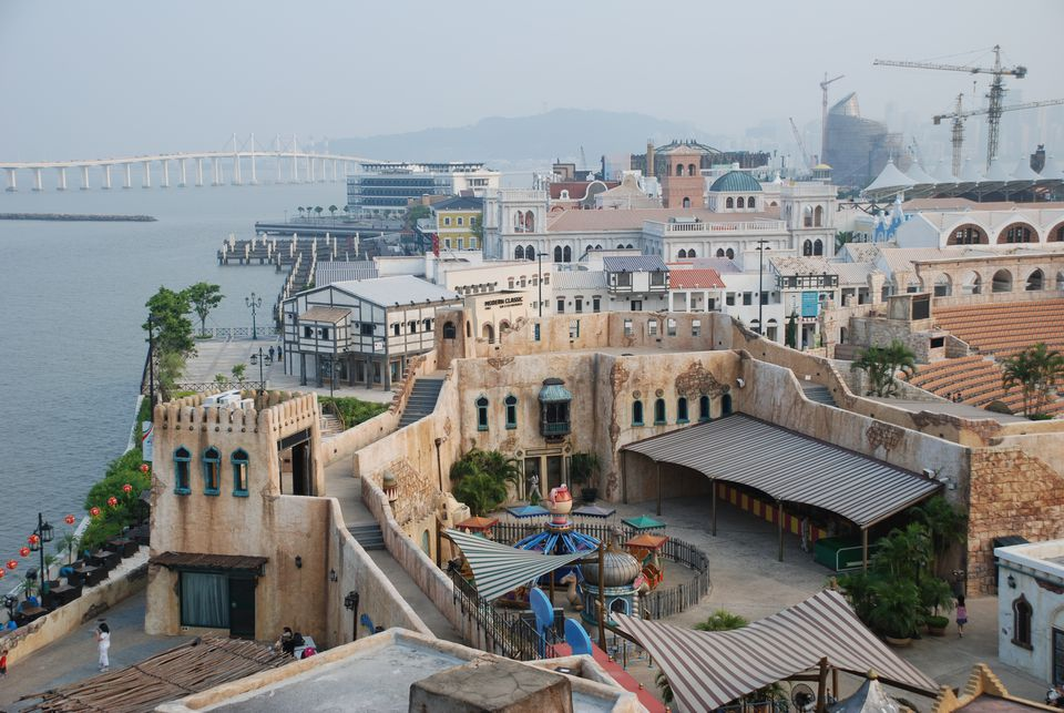 The themed architecture of Fisherman's Wharf Macau
