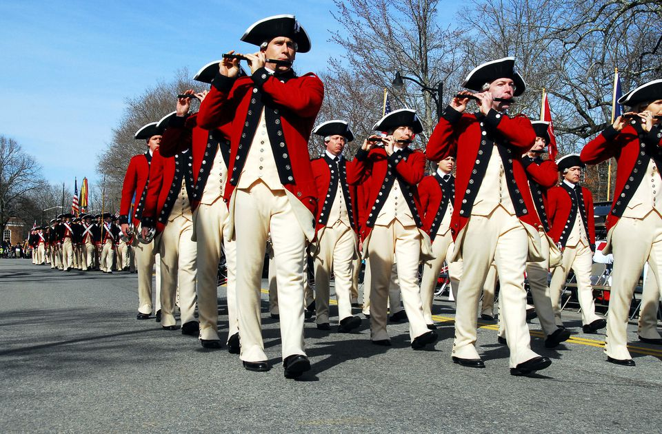 Patriots' Day Parade in Concord, Massachusetts