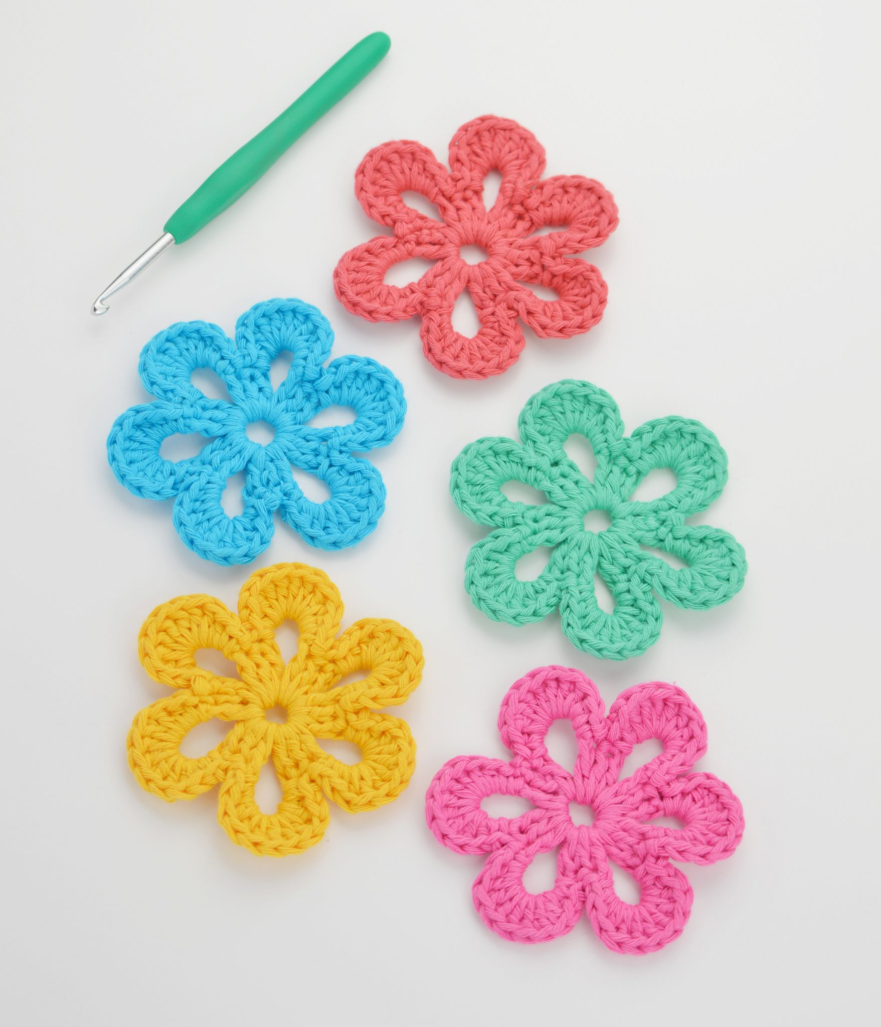 Easy free crochet patterns for beginners easy free crochet flower pattern beginner crochet bankloansurffo Image collections