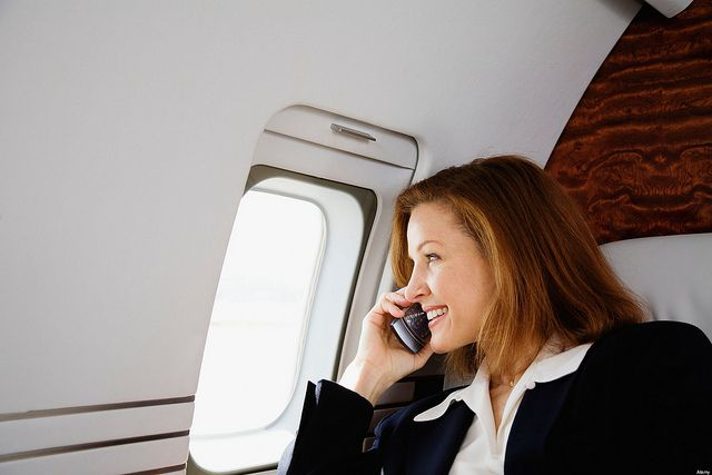 Using a cell phone on a plane