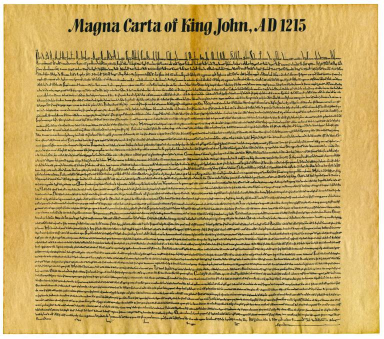 Parchment Replica the Magna Carta of King John
