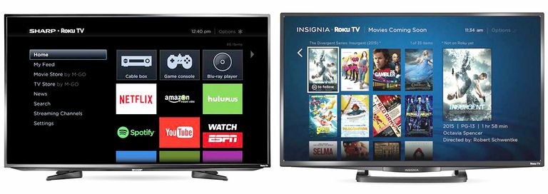 Sharp and Insignia Roku TVs