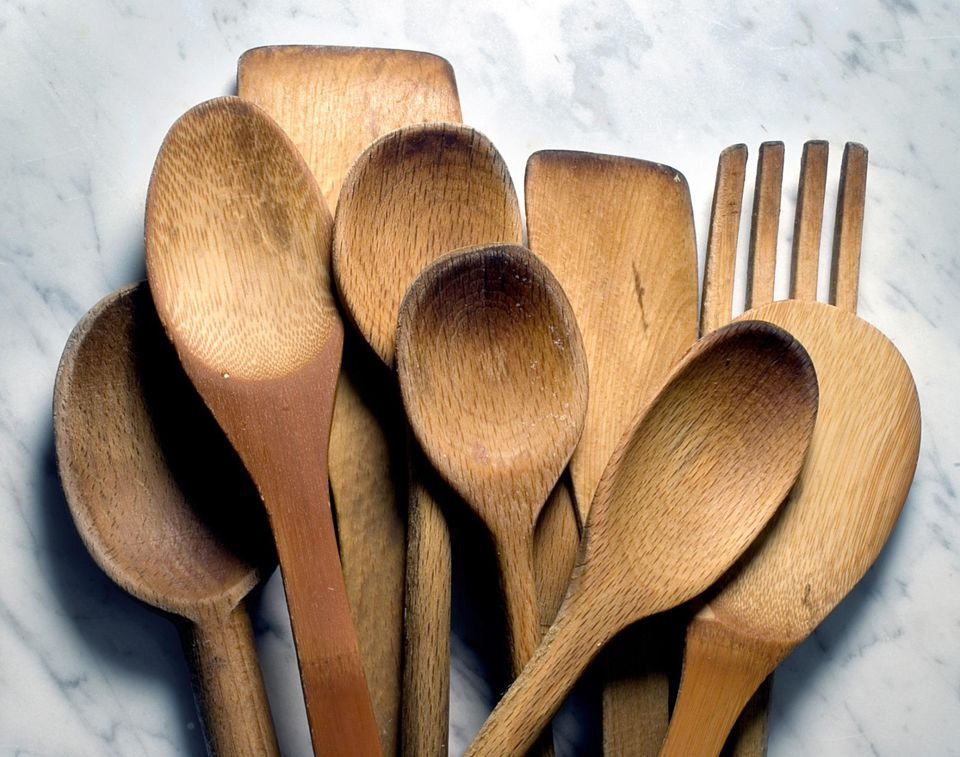 Wood spoons on marble, how to care for wooden utensils