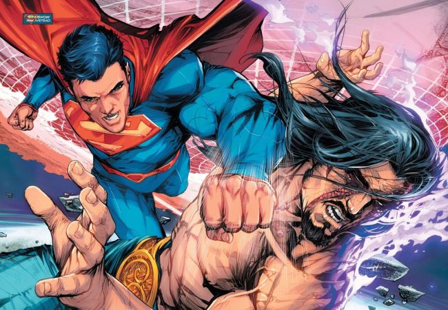 Comic panel of Superman #50