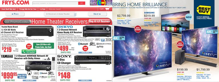 Frys and Best Buy Ad Examples
