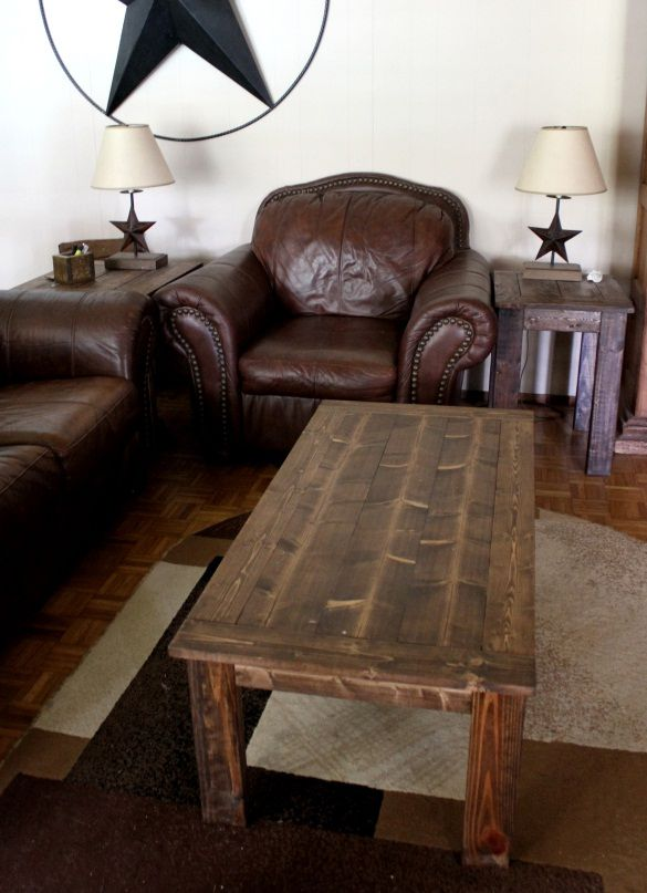 19 free coffee table plans you can diy today for Living room no coffee table