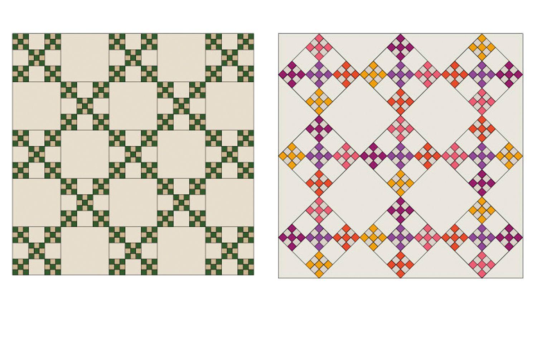 Double Nine-Patch Quilt Block Pattern : double nine patch quilt - Adamdwight.com