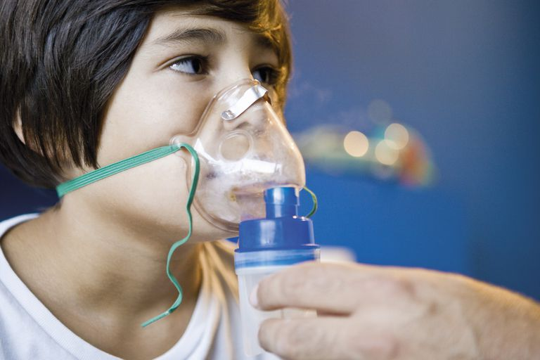 Child using a breathing treatment