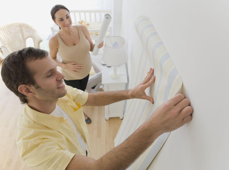 Wallpapering the Nursery