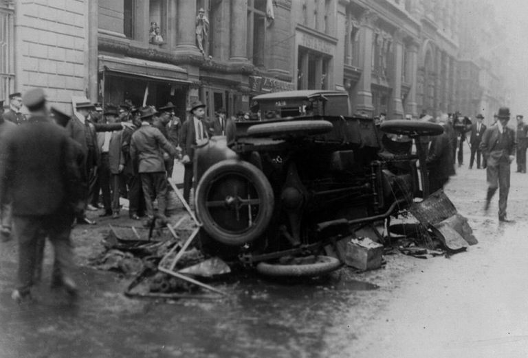 Aftermath of Wall Street Bombing