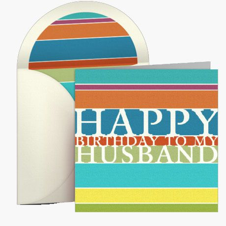 Picture of a birthday card for a husband