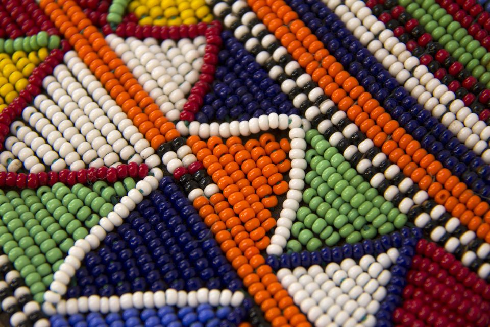 Beadwork stitching