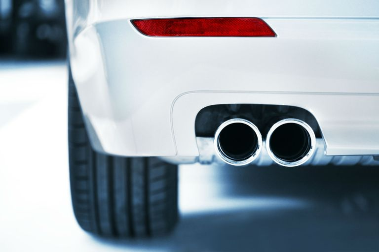 Exhaust and red light