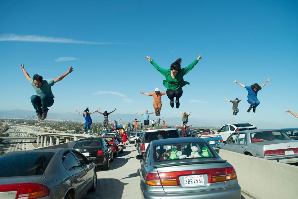 The Freeway Traffic dance number from La La Land