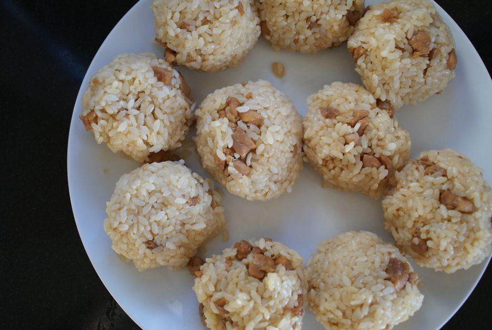 Rice Balls With Chicken