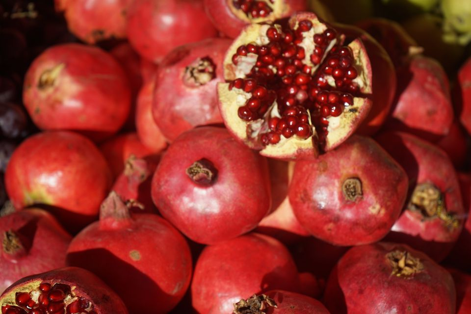 fruit of xinjiang pomegranate